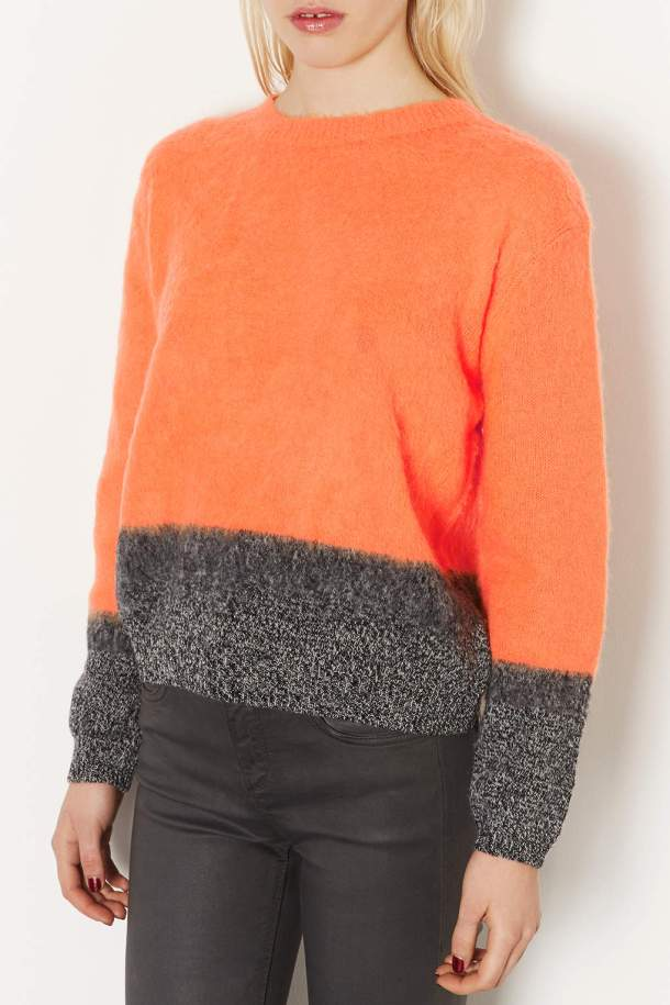 Orange and grey mix from Topshop